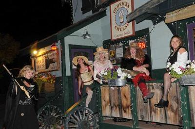 Ladies of the Night outside Pour House during the 2010 Haunted Tour. Photo Credit: Susie Zweigle Studios