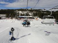 Discounted Lift Tickets - On the chairlift at Boreal