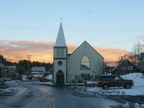 Truckee Church at Sunset
