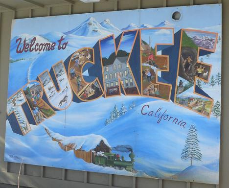 Welcome to Truckee Sign - outside Truckee Post Office