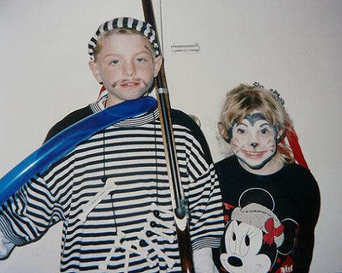 Ryan and Brie Storz dressed for Halloween