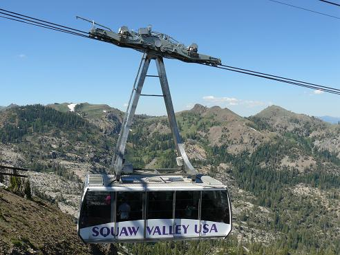 Cable Car at Squaw Valley on its way to High Camp in Olympic Valley, CA