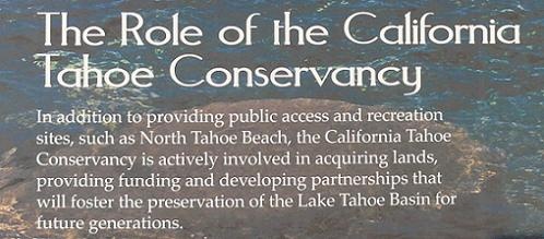 The Role of the California Tahoe Conservancy