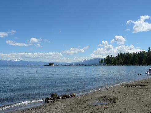 Commons Beach in Tahoe City at Lake Tahoe