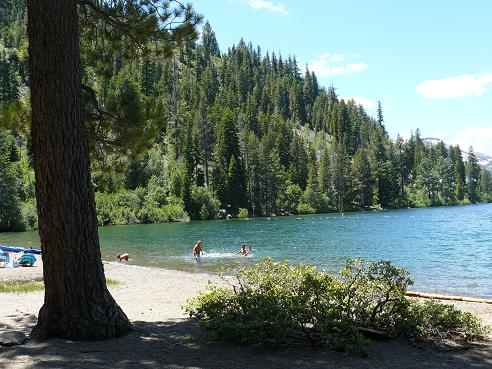 China Cove Beach on Donner Lake in Donner Memorial State Park in Truckee, California