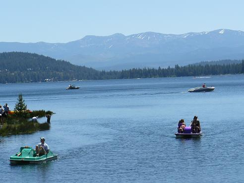 Boating on Donner Lake in Truckee, California