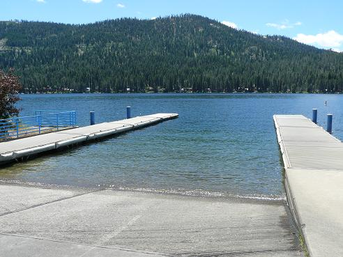 Donner Lake Boat Ramp at Donner Lake in Truckee, California