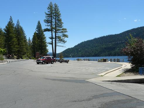 Donner Lake Boat Ramp Parking Lot - Donner Lake in Truckee, California