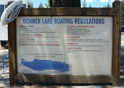 Donner Launch Boating Rules