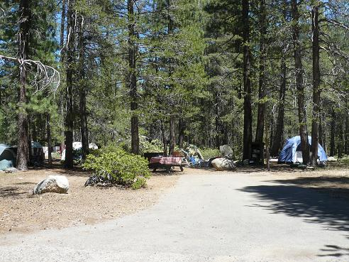 A Donner Memorial State Park Campground at Donner Lake in Truckee, California