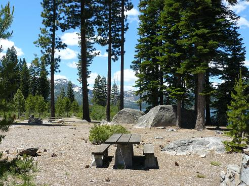 One of the Many Picnic areas at Donner Memorial State Park