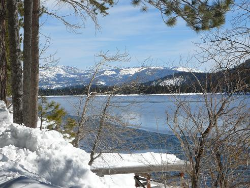 Donner Lake in the Winter in Truckee, California