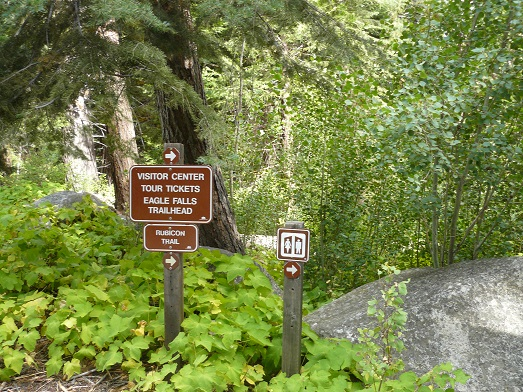 Eagle Falls Trailhead at Vikingsholm Castle at Emerald Bay, Lake Tahoe, CA