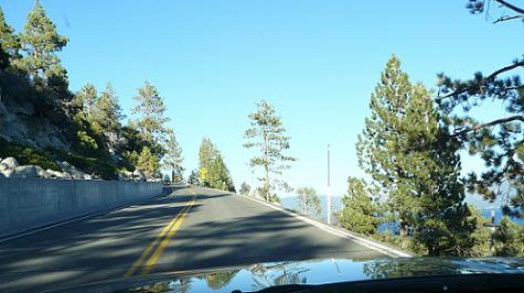 On Hwy 89 from South Lake Tahoe to Emerald Bay