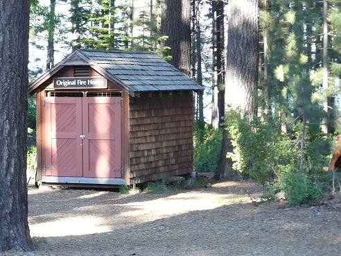 Original Fire House at the Gatekeeper's Museum in William B. Layton Park in Tahoe City