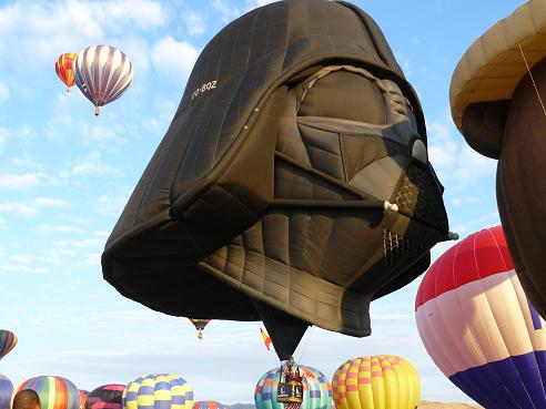 Darth Vader Balloon at the Great Reno Balloon Race