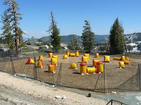 High Camp Paint Ball at Squaw Valley, CA