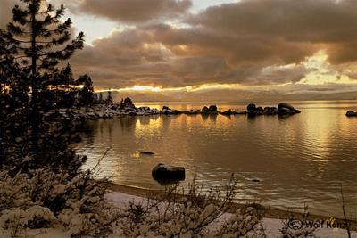 Winter Sunset at Sand Harbor, Wolf Kohz