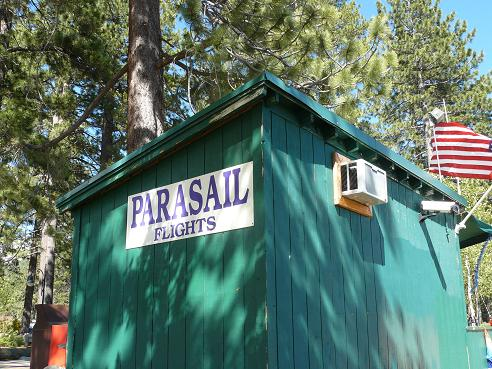 Parasail Flights available at the Kings Beach State Recreation Area in Kings Beach at Lake Tahoe