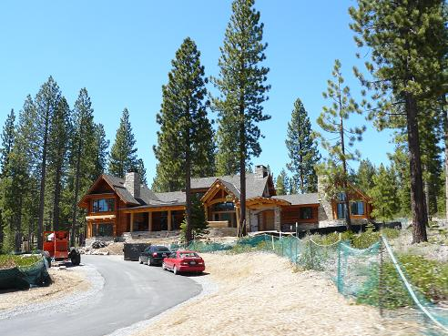 A Martis Camp home under construction in Truckee, California