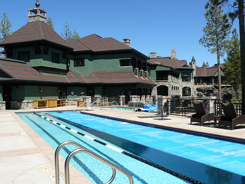 The Camp Lodge and Swimming Pools in the Martis Camp Community of Truckee, California