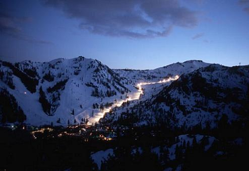 Squaw Valley USA Night Skiing, Olympic Valley, CA