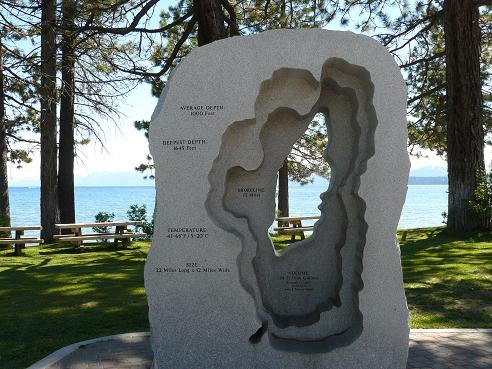 Kings Beach - beach town on North Lake Tahoe - info. by Truckee Travel Guide.