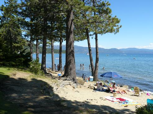 North Tahoe Beach in Kings Beach, CA at Lake Tahoe
