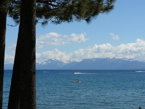 North Tahoe Beach in Kings Beach, CA at Lake Tahoe