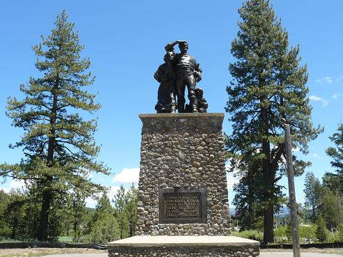 Pioneer Monument at the Donner Memorial State Park in Truckee, California