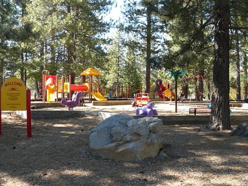 Truckee River Regional Park Playground area in Truckee, CA