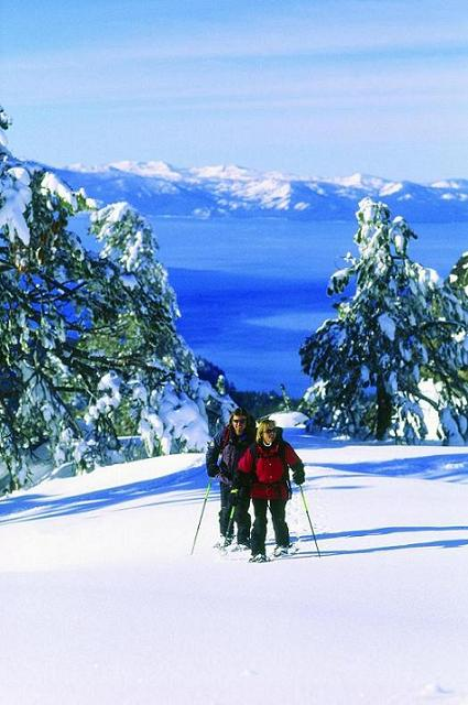 Showshoeing at Lake Tahoe