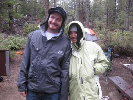 Ryan Storz and Marlene Storz Camping