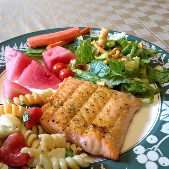 Healthy Salmon Dinner