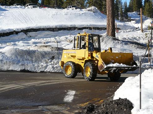 Snow Removal at Northstar in Truckee, California