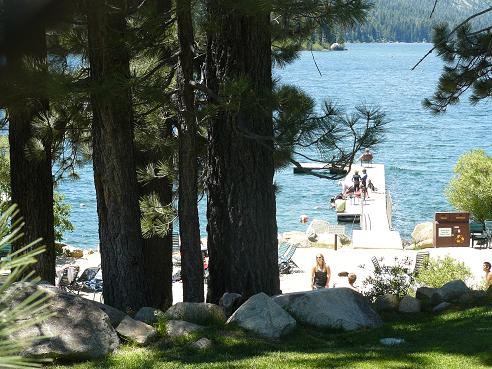 Tahoe Donner Beach Club at Donner Lake in Truckee, California