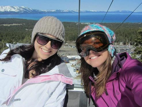 Riding the Chair Lift at Heavenly Mountain