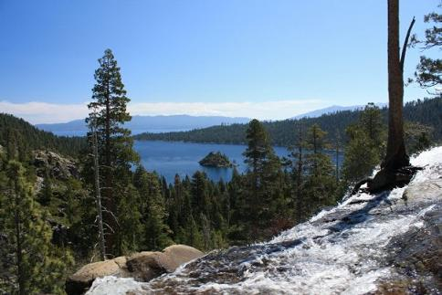 Emerald Bay, Lake Tahoe, California from Eagle Falls