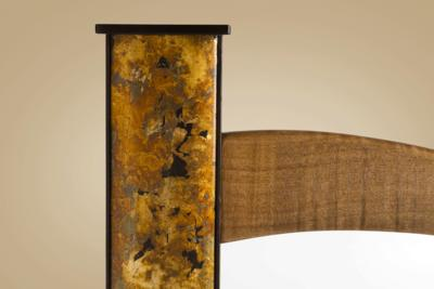 Mirror frame (layered metal leaf, paints, mica powders)