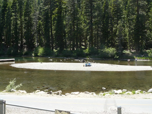 The Truckee River from W. River Street in Truckee, California
