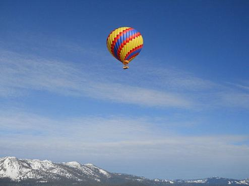 Hot Air Ballooning over Lake Tahoe, California