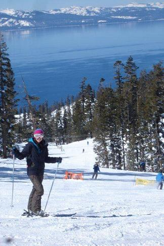 Skiing at Heavenly Valley at Lake Tahoe
