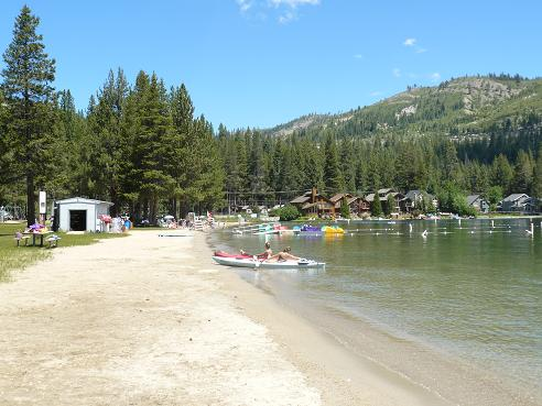 West End Beach at Donner Lake, in Truckee, California