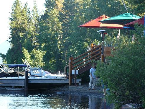 Sunnyside Restaurant & Lodge Deck at Lake Tahoe, CA