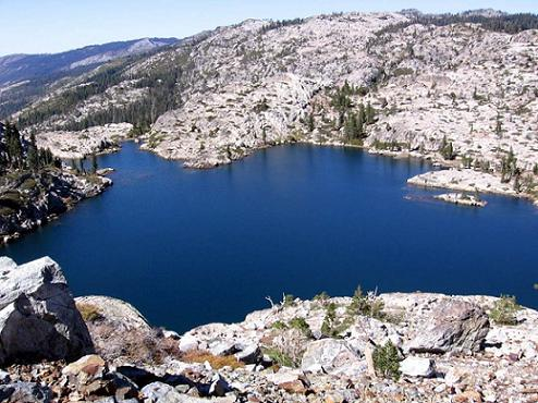 Phoenix Lake from Old Man Mountain in California