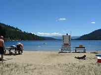 West End Beach at Donner Lake in Truckee, C
