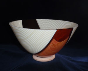Glass bowl by Pam Sutton