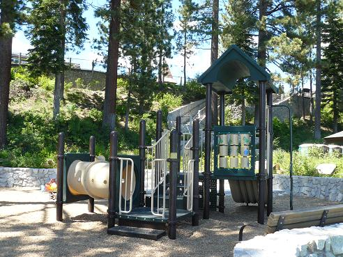 Commons Beach Playground in Tahoe City at Lake Tahoe