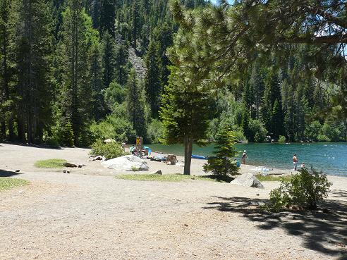 China Cove Beach in Truckee, California on Donner Lake accessed from within the Donner Memorial State Park