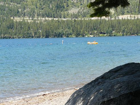 China Cove Beach at Donner Memorial State Park in Truckee, California at Donner Lake